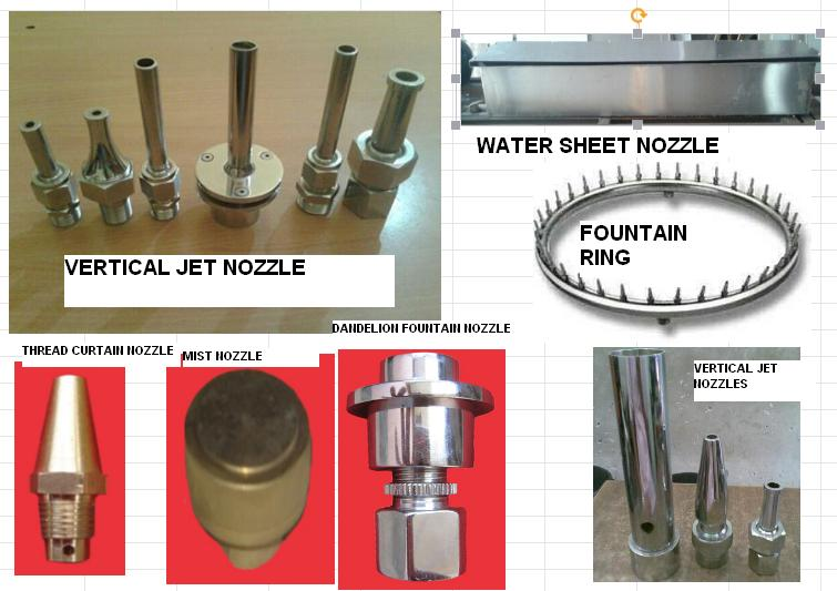 straight jet fountain nozzle