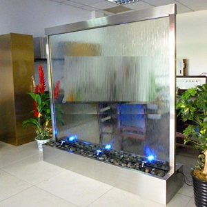 glass water curtain fountain